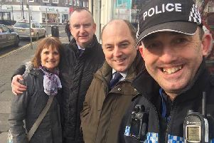 Ben Wallace MP on patrol with the police in Poulton