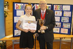 Overall town winner Sophie Neath-Crannage from Grange Primary School.