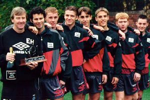 Eric Harrison with the Class of '92