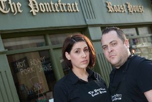 Owners David and Jemma Ladwitch of the Pontefract Roast House, say they face closure months after opening because of a massive rates bill.