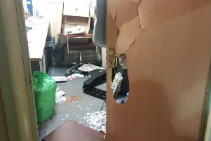 Aftermath of the break-in
