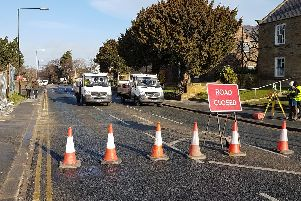 Scalby Road is closed for essential sewage work.