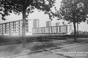 The unfinished apartment blocks at Drancy.