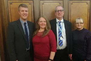 (L-R) Gareth Jenkins, Communications Lead, Lancashire SEND Partnership;'Sam Jones, Chair, Lancashire Parent Carer Forum;  David Graham, Head of Special Educational Needs and Disability Service, Lancashire County Council; 'Clare Carsley, PCF steering group