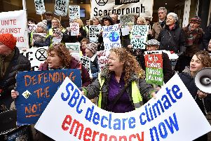 Extinction Rebellion calling for the council to declare a climate emergency in January.