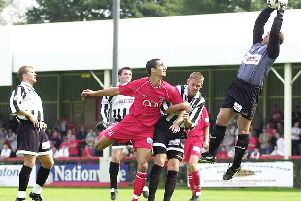 Frenchman Romain Faure in action for Scarborough FC