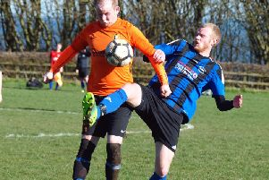 Edgehill Reserves and West Pier Reserves battle for the ball. Picture: Steve Lilly