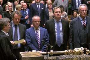 MPs announcing the result of the Brexit vote