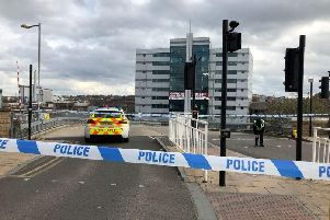Tesco Extra on Savile Street in Sheffield was cordoned off yesterday (Pic: Dan Hayes)