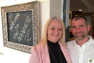 Laura Wilcock and Anthony Procter have taken on The Ivanhoe pub.