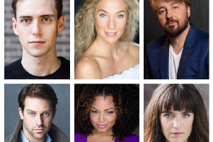 Pictured clockwise from top left, Jamie Muscato, Jodie Steele, John Owen-Jones, Lauren Samuels, Marisha Wallace and Jon Robyns