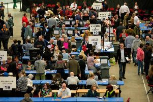 Votes are counted in Leeds during the 2018 local elections. Pic: Mark Bickerdike