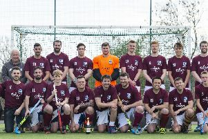 Scarborough Hockey Club 1sts line up after winning the League B Cup following a 4-1 win against Slazengers '''''''''            PICTURES BY WILL PALMER