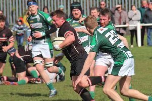 Beverley v Old Brodleians'Danny Vento scored a hat-rtrick of tries