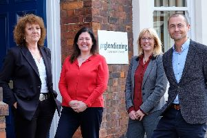 Former Ridley Macmillan MD, Julie Ridley with account executive Joanne Ramm, JM Glendinning Scarborough MD Alison Piercy and JM Glendinning group MD Nick Houghton.