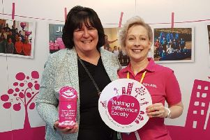 Director Valerie Aston, left, was rewarded for her tireless dedication to supporting local causes.