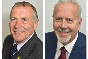 Cllr Derek Bastiman (left) has criticised Cllr Siddons' decision to delay the ceremony.