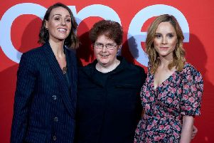 Suranne Jones, Sally Wainwright and Sophie Rundle on the red carpet in Halifax. Picture: Stu Johnson Photography