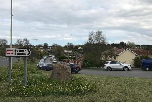 Parking on the approach road to Seamer Station