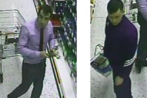 Can you identity the two men pictured in this CCTV