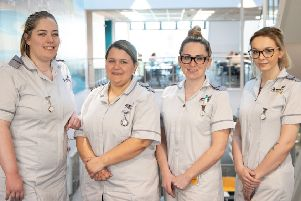 CU Scarborough nursing graduates Rebecca Pringle, Jessica Parsons, Jade Cappleman and Jasmine Mugglestone.