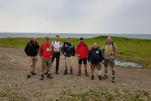Some of the walkers on route.