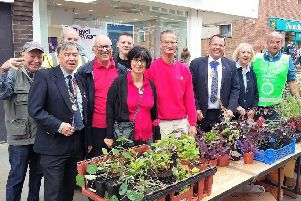 The Rotary Club of Scarborough Cavaliers' plant stall at last year's Community Fair.