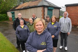 West Park Community Group campaign to save derict Ladies Pavilion, with chair Alison Docherty and her team