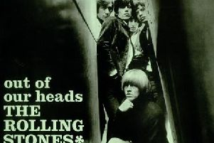 The Rolling Stones pictured on the front cover of Out of Our Heads album in 1965.