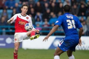 Josh Morris in action during his previous spell at Fleetwood Town four years ago