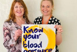 Julie Foote (right) owner of Right at Home with stroke champion Tracy Campbell