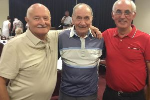 SEVENTIES SEADOGS: Jeff Barmby, Ted Smethurst and Pete Jackson at the reunion