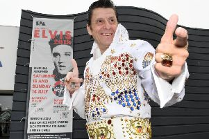 Bridlingtons only Elvis impersonator Shaky in his new outfit to take on the competition.