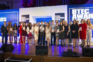 Scarborough TEC student Millie Davey was among the winners at the Pearson BTEC Awards ceremony.