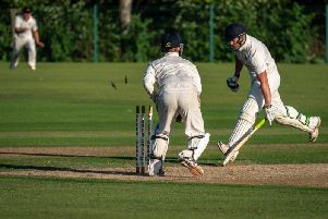 Zac Coultas is run out at Garstang, where Fleetwood lost a Northern League nailbiter Picture: TIM GILBERT / PRESTON PHOTOGRAPHIC SOCIETY