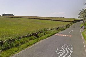 The Southfield area of Colne where fire crews have been tackling a blaze in the open overnight.