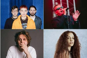 All four acts performing this week. Clockwise from top left: Years & Years, Madness, Jess Glynne and Lewis Capaldi.