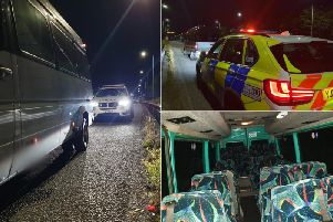 A traffic officer for the unit, known as Traffic Dave, posted these picture of the mini bus which the man was driving illegally