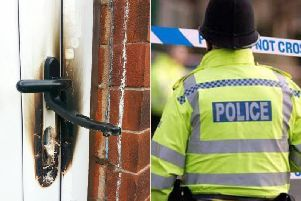 Stock image of a blow torch used to break into a house