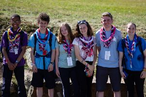 Rory Ruston and Will Stanway joined the World Scout Jamboree.