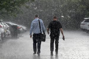 The Met Office said there is a small chance that heavy rain could cause flooding.