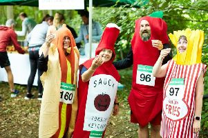 Hot dog, chips and sauce all took to the streets for the 10km race!