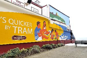 Scarborough Tramway cliff lift mural
