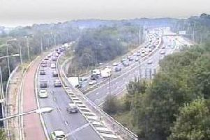 Delays where the M61 joins the M6