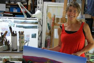 Artist Sue Slack's work has been inspired by Yorkshire's amazing landscapes.