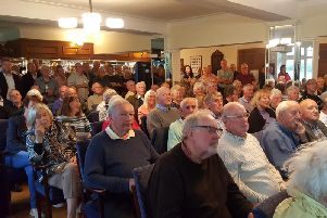 Residents packed into the public meeting