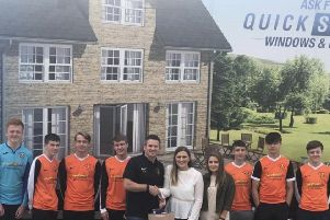 Clear winners: Brighouse Sports U16s are being supported by Quickslide Windows and Doors.