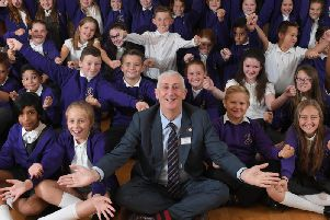 Sir Lindsay was quizzed on politics by pupils at Trinity Church of England Primary School