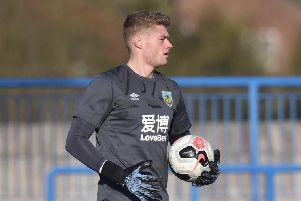 Burnley goalkeeper Lukas Jensen