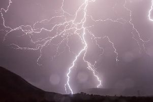 Thundery weather could bring lightning.